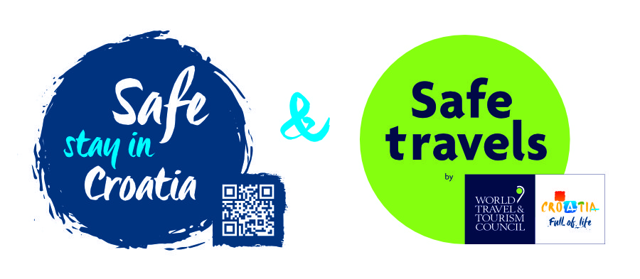Safe stay in Croatia WTTC Safe travels_stamp_blue_QR_poz